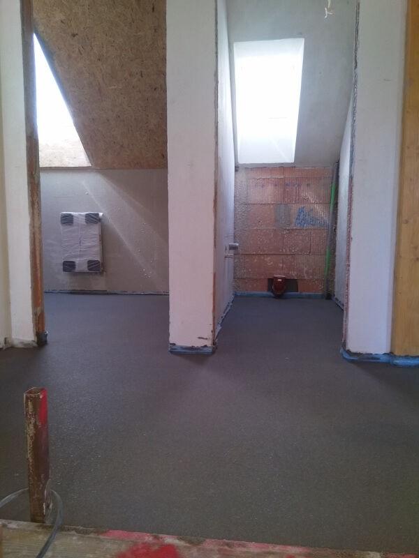 realizace strojně hlazené podlahy vinteriéru